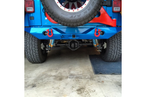 Crawler Conceptz Ultra Series Mid Width Rear Bumper w/Tabs And Tire Carrier Bare (Part Number: )