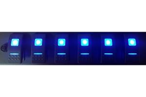 sPOD Dual LED Momentary Switch - Blue