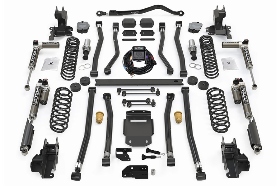 Teraflex 3.5in Alpine RT3 Long Arm Suspension Lift Kit w/ Falcon SP2 3.5 aDAPT Shocks - JL 4Dr