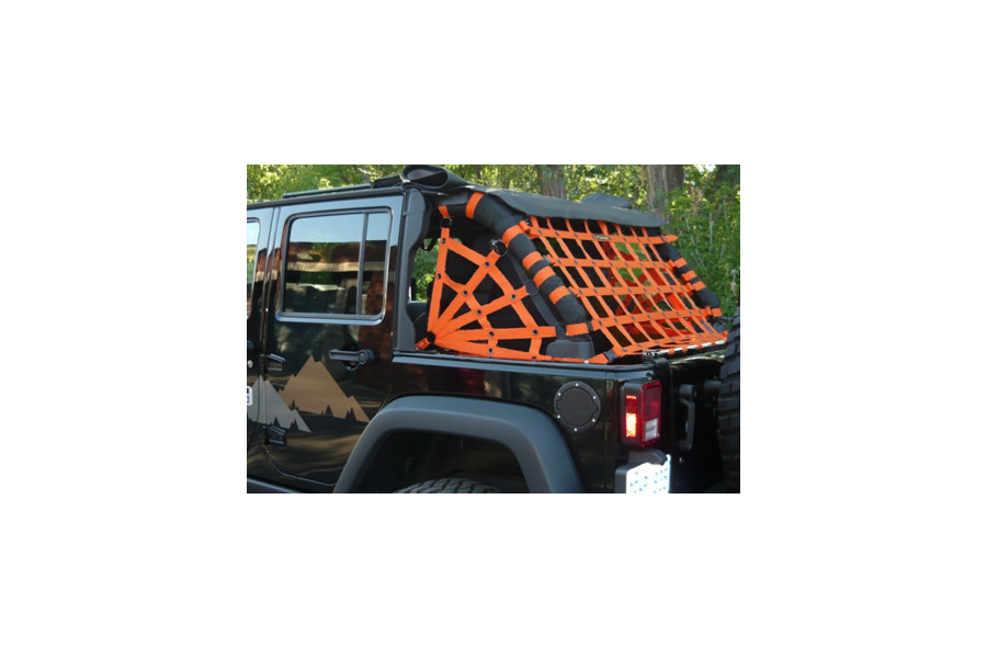 Dirty Dog 4x4 Spider Netting Rear Orange - JK 4dr