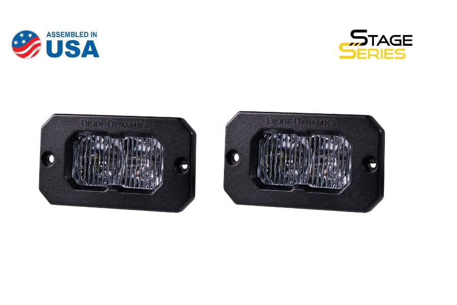 Diode Dynamics SS2 Pro Flush Mount LED Fog, WBL-  Pair