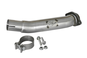 AFE Power 2.5in Twisted Loop Delete Down-Pipe  (Part Number: )