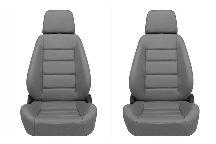 Corbeau Sport Grey Vinyl Seat Pair (Part Number:90090PR)