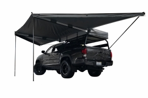Overland Vehicle Systems Nomadic Awning 180 - Dark Gray Cover w/Black Cover