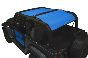 Dirty Dog 4x4 Sun Screen Rear Only Blue (Part Number: )