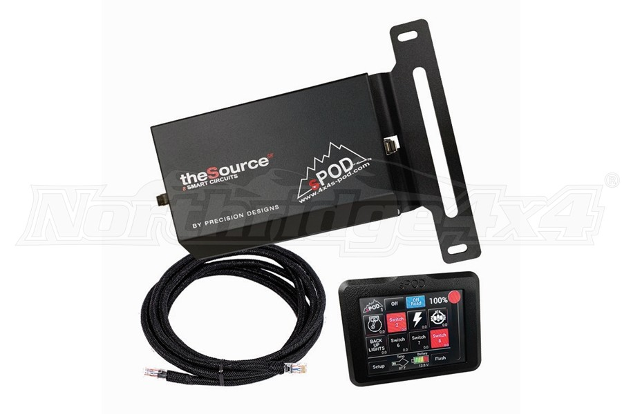 sPOD SourceSE 8-Circuit System w/ Touchscreen (Part Number:8-700-TSB-JL)