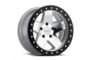 Black Rhino Crawler Beadlock Wheel 17x8.5 5x5 Silver w/Black Lip (Part Number: )