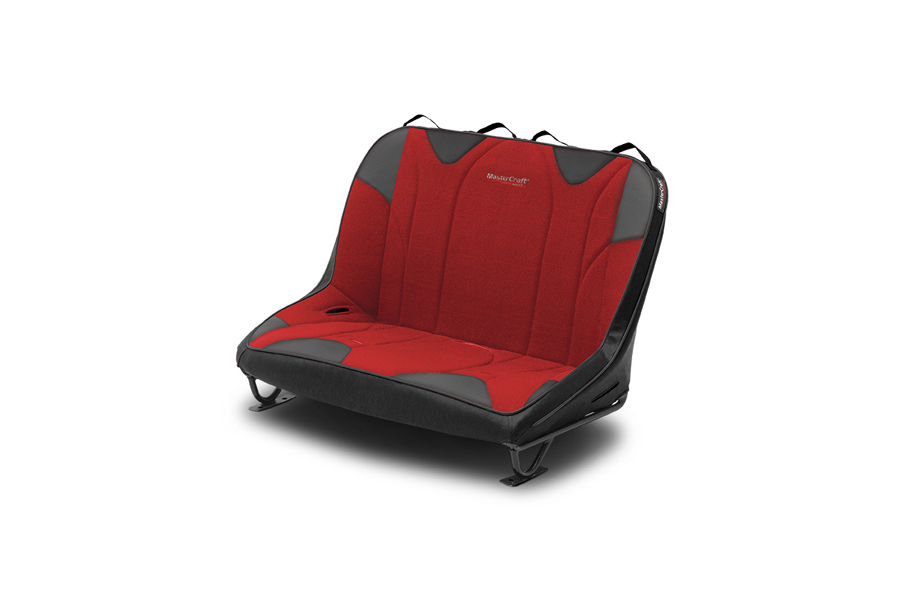 MasterCraft Rubicon Dirtsport Bench Seat w/o Headrests Black / Red (Part Number:310105)