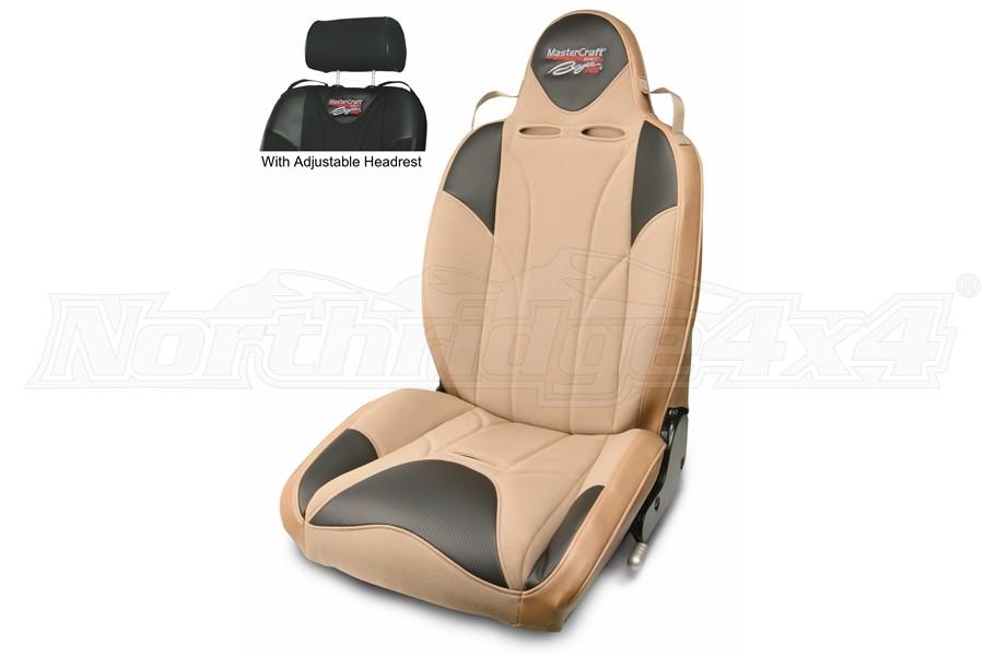 MasterCraft Baja RS DirtSport Reclining Seat w/Adj. Headrest - Tan/Brown Haze/Brown Haze