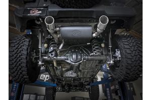 AFE Power Rebel Series 2.5in Dual Cat Back Exhaust System, Polished Tip - JL 4Dr 3.6L