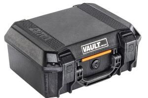 Pelican V200 Vault Medium Pistol Case w/ Foam Insert - Black