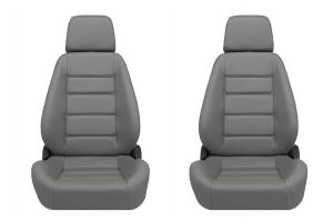 Corbeau Sport Grey Vinyl Seat Pair (Part Number: )