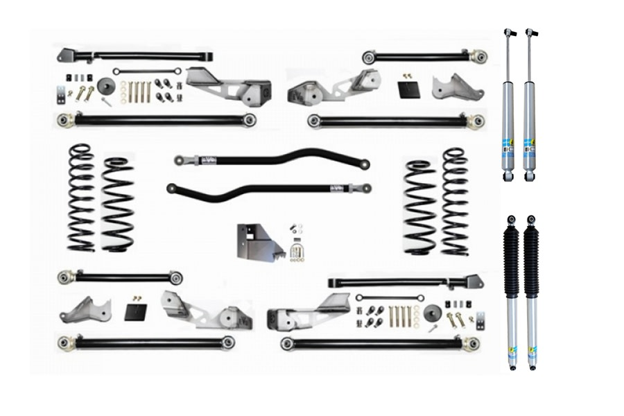 Evo Manufacturing 3.5in High Clearance PLUS Long Arm Lift Kit w/ Bilstein Shocks - JL 4Dr