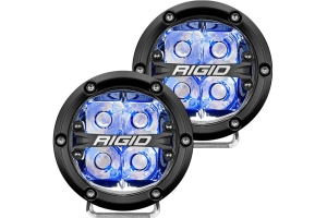 Rigid Industries 360-SERIES 4in LED OFF-ROAD Light Pair - Spot, Blue Blacklight