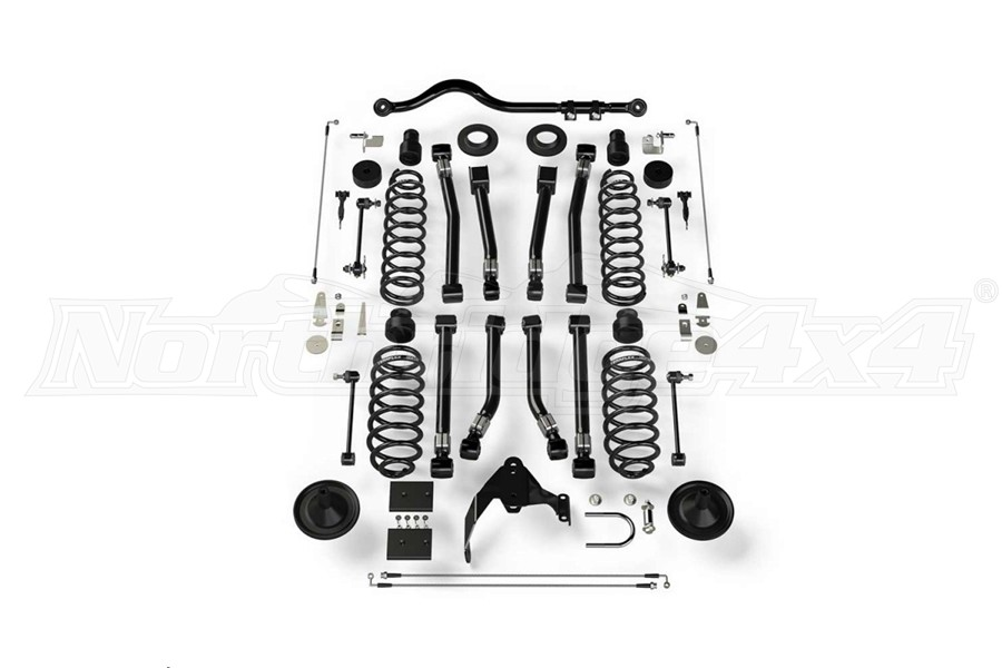 Teraflex Suspension System 4in Lift 8 Flexarms w Track Bar - JK 2dr