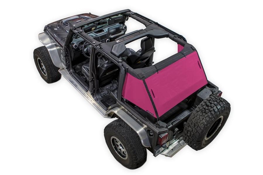 SpiderWebShade 1-Piece Cargo Shade Cover - Pink - JK 4Dr