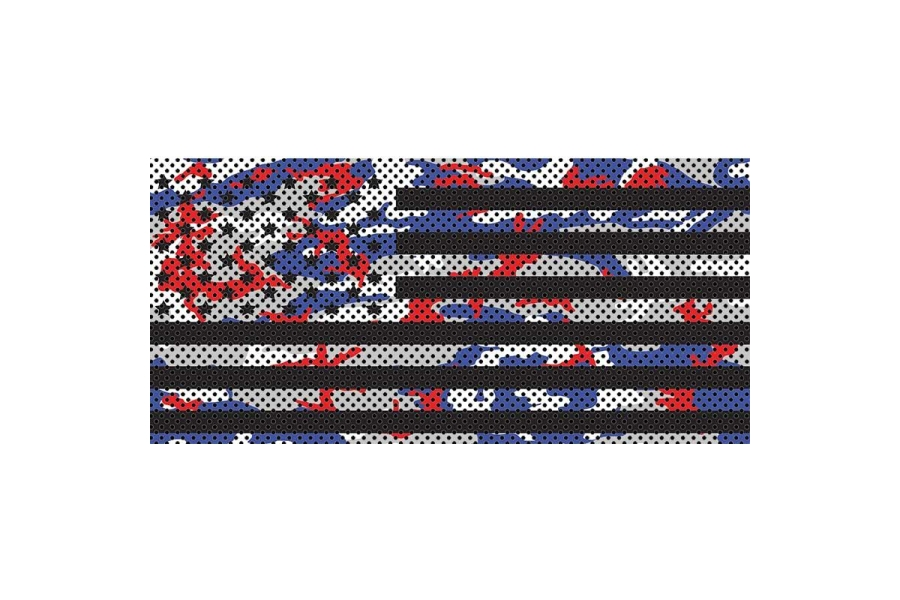 Under The Sun Inserts Patriot Colors Camo Stars And Stripes Grill Insert (Part Number:INSRT-PATSS-JK)