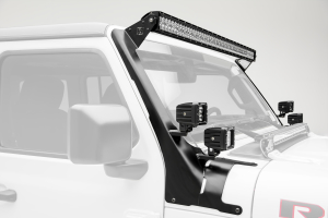 T-REX ZROADZ A Pillar Roof Level LED 52in Light Bar and 4 - 3in Cube LED Lights Mount Kit  - JL/JT