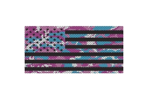 Under The Sun Inserts Pink Blue And White Camo Stars And Stripes Grill Insert (Part Number: )