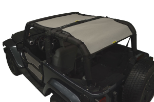 Dirty Dog 4x4 Sun Screen Front and Rear, Grey (Part Number: )