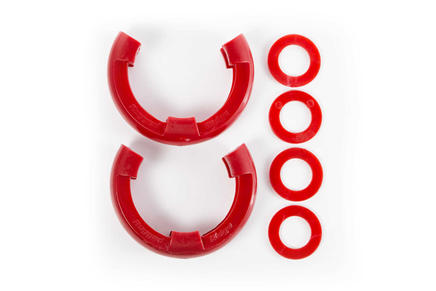 Rugged Ridge 7/8-inch D-Ring Shackle Isolator Kit Red (Part Number:11235.41)