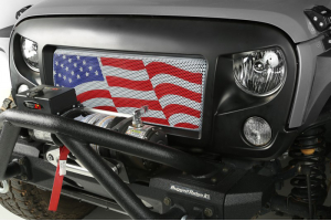 Rugged Ridge American Flag Spartan Grill Insert (Part Number: )