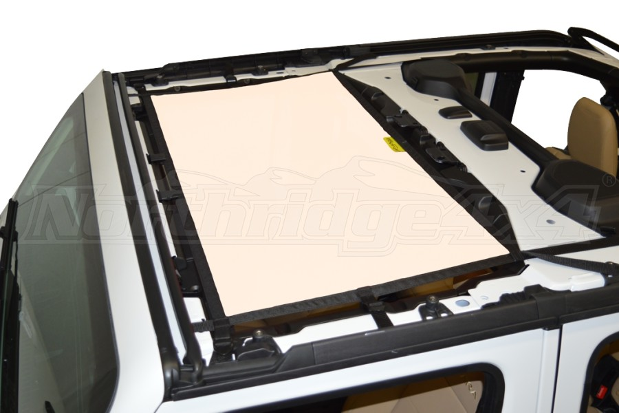 Dirty Dog 4x4 Sun Screen Front - Sand (Part Number:JL4S18F1SD)