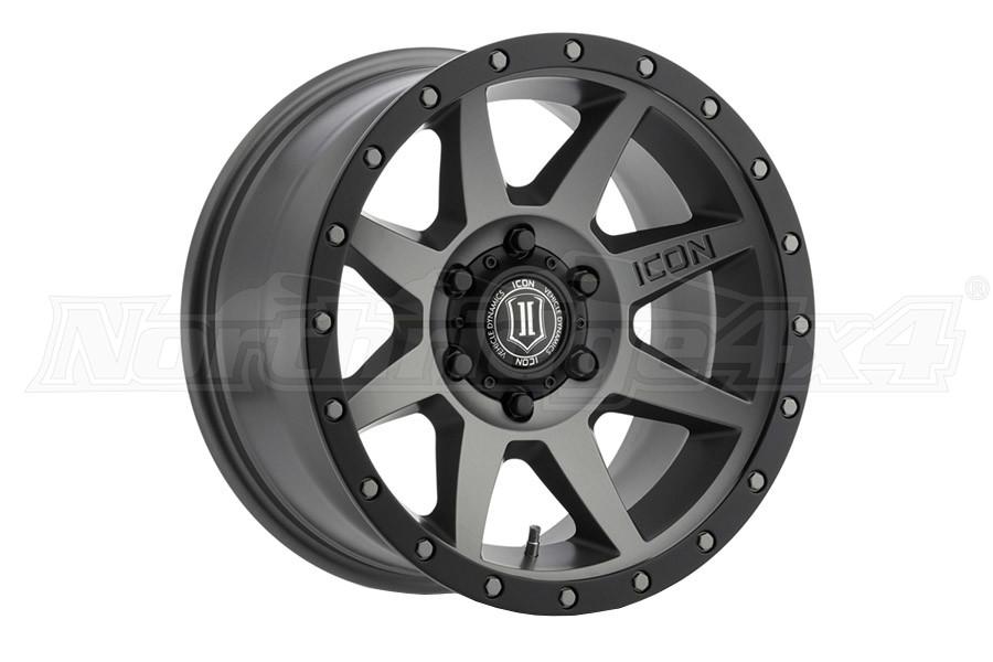 Icon Vehicle Dynamics Rebound Titanium Matte Wheel 17X8.5 5x5 - JT/JL/JK