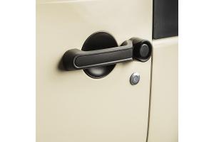 Rugged Ridge Door Handle Inserts, Black - JK 2DR