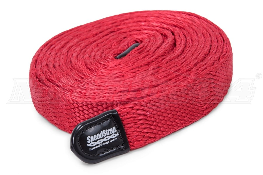 SpeedStrap SuperStrap 15ft x 1in Weavable Recovery Strap, Red  - 10,000lb Max Capacity