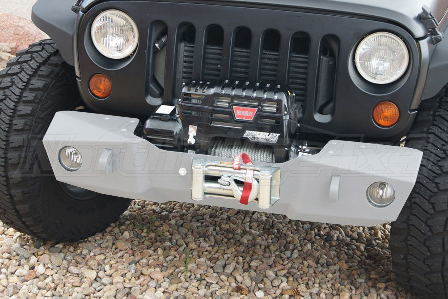 Nemesis Industries Odyssey Front Bumper w/ Winch Plate Offset Drum - Unfinished, Aluminum (Part Number:121210-3)