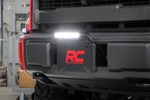 Rough Country License Plate Mount w/ 8in Black Series Light Bar