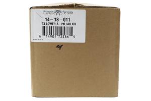 Poison Spyder A-Pillar Cage Kit Bare Steel ( Part Number: 14-18-011)