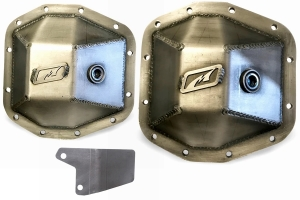 Motobilt Dana 44 Front and Rear Differential Cover Kit - Bare Steel  - JT / JL Rubicon