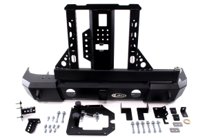 LOD Signature Series Armor Lite Gen 4 Shorty Rear Bumper w/Door Linked Carrier and Round Cut Outs, Black ( Part Number: JBC0773)