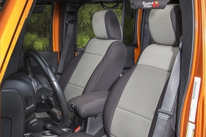 Rugged Ridge Seat Cover Kit Black/Grey (Part Number: )