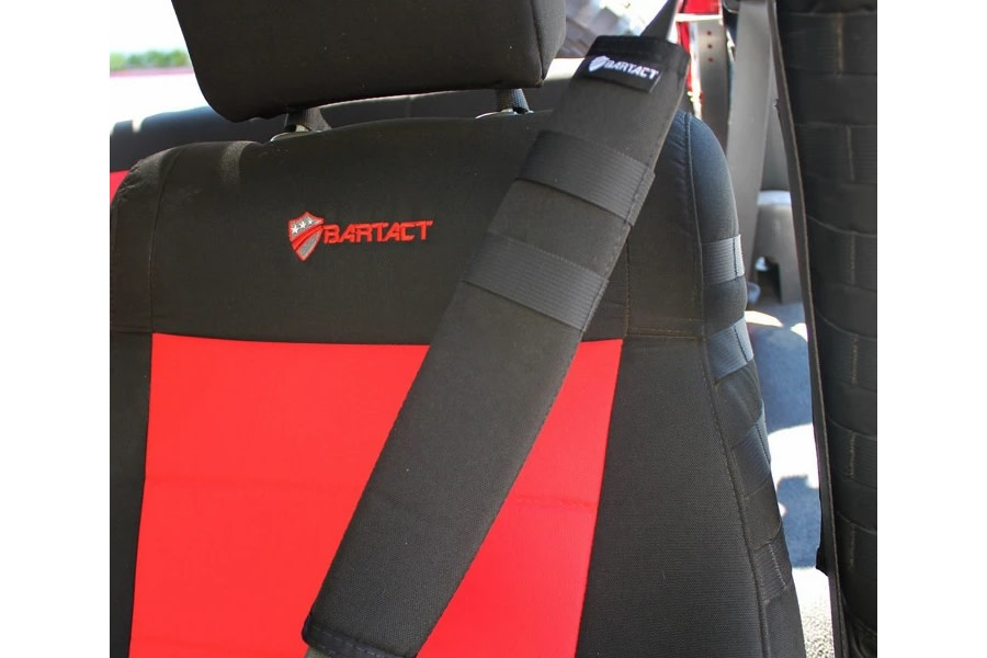 Bartact Universal Seat Belt Covers, Pair - Black