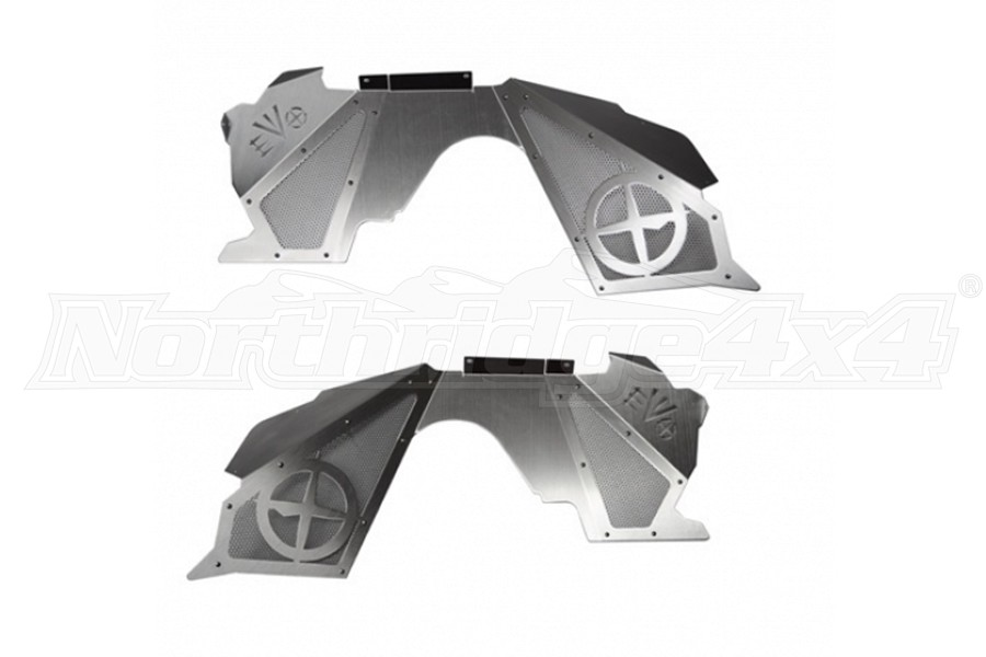 EVO Manufacturing Front Vented Inner Fenders, W/ Coilovers Suspension, Bare - JK
