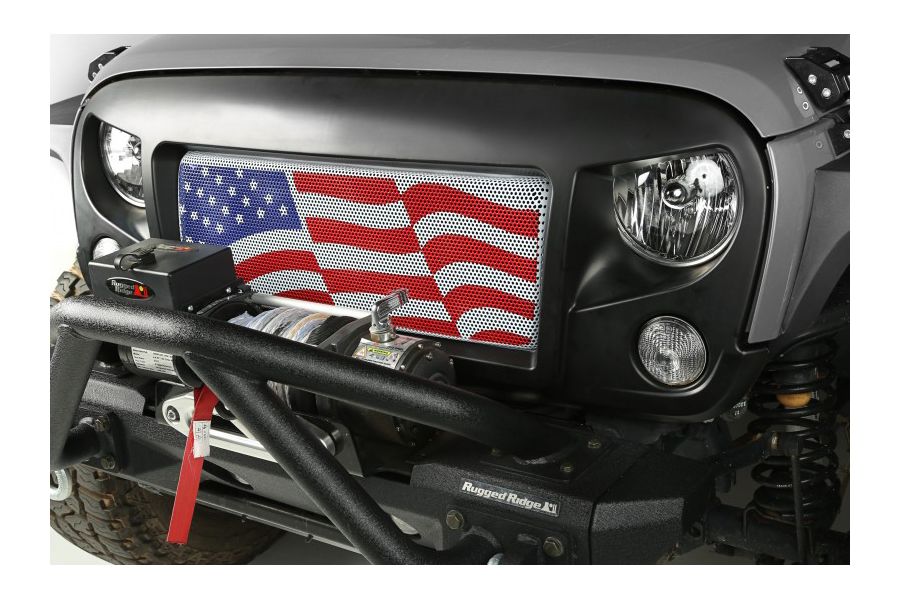 Rugged Ridge American Flag Spartan Grill Insert (Part Number:12034.22)