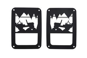 Kentrol Heritage Tail Light Guard Set - Textured Black  - JK