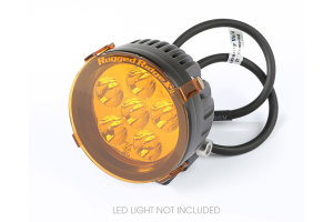 Rugged Ridge 3.5-Inch LED Light Cover, Round, Amber (Part Number: )
