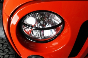 Kentrol Euro Headlight Guard Set - Textured Black  - JK