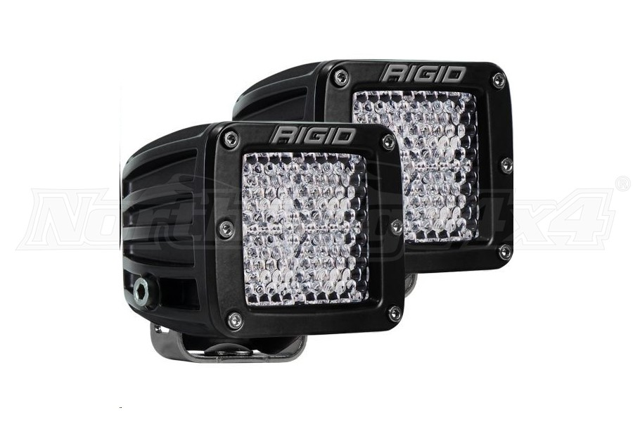 Rigid Industries D-Series PRO Flood Diffused Surface Mount Lights, Pair (Part Number:202513)
