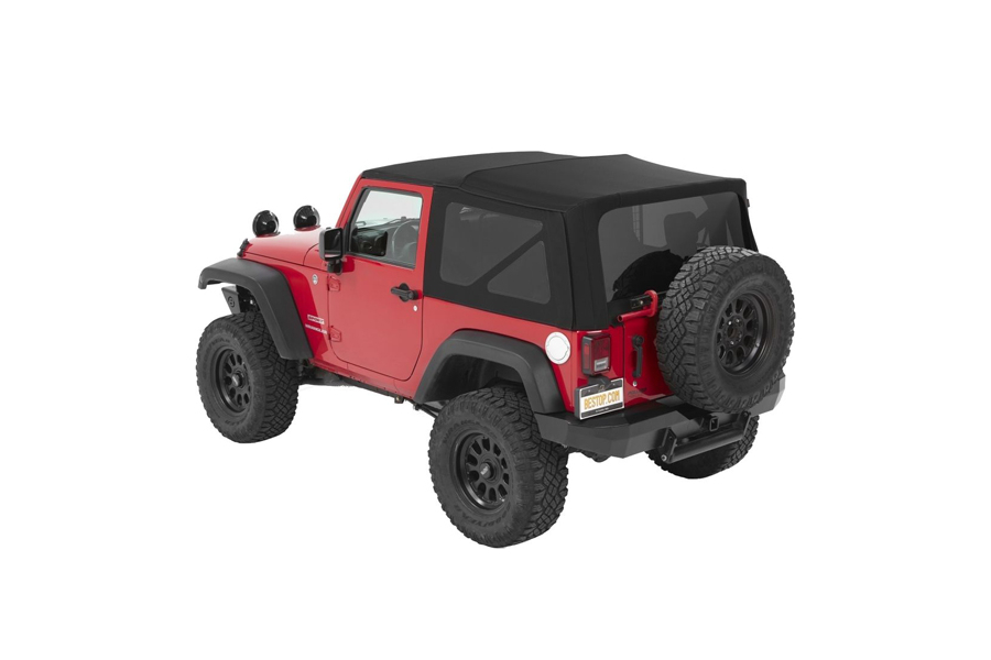 Bestop Supertop NX Twill Soft Top with Tinted Windows without Doors in Black - JK 2dr