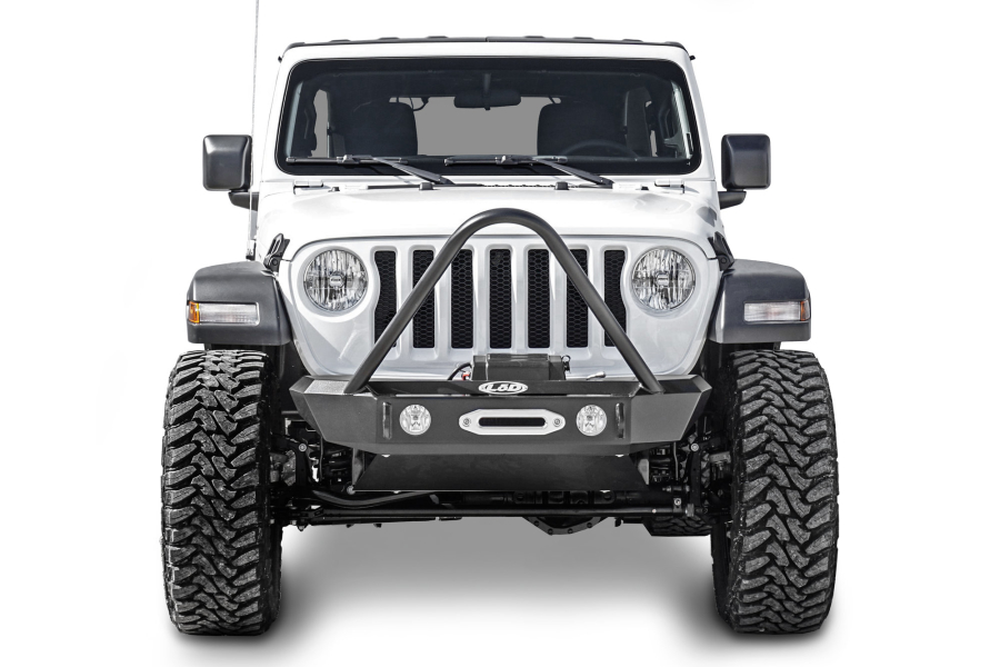 LOD Signature Series Stubby Front Bumper with Stinger for Warn Power Plant Winch - JT/JL