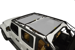 Dirty Dog 4x4 Sun Screen Front and Rear - Grey - JL 4DR