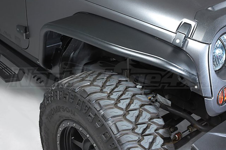 Bushwacker Aluminum Tube Fender Flares Front and Rear Lights Included (Part Number:10930-19)
