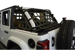 Dirty Dog 4x4 3pc Cargo Side Netting Kit, Olive Drab Green - JL 4Dr