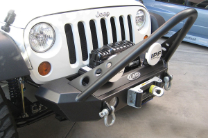 LOD Signature Series Shorty Front Bumper w/Stinger and Zeon Winch Mount Bare Steel (Part Number: )