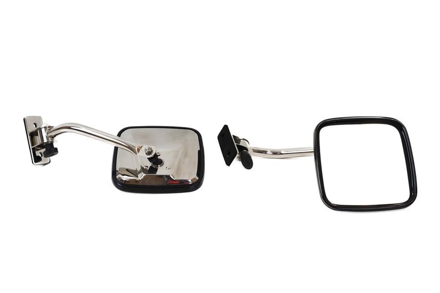 Kentrol E-Z Detach Mirror Set - Polished Silver  - JK/TJ